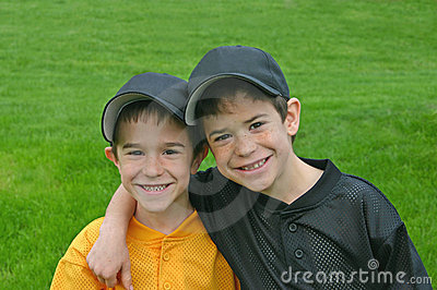 Brothers In Baseball Uniforms