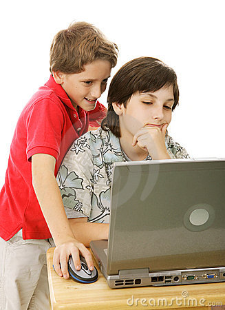 Brothers On Computer