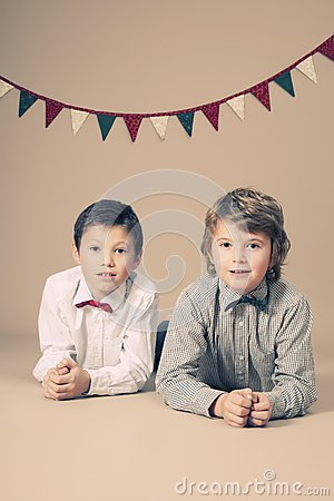 Free Brothers During Christmas Royalty Free Stock Photo - 28266365