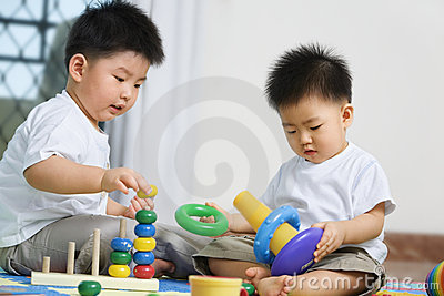 Brothers playing together