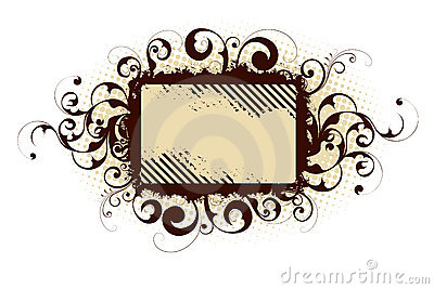 Brown abstract frame
