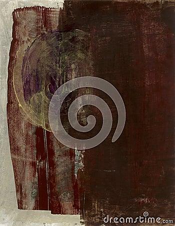 Brown abstrait avec le vortex
