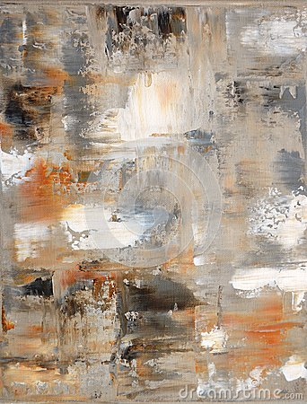 Free Brown And Beige Abstract Art Painting Royalty Free Stock Image - 30114256