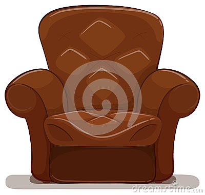 Free Brown Armchair On White Background Stock Image - 84570541
