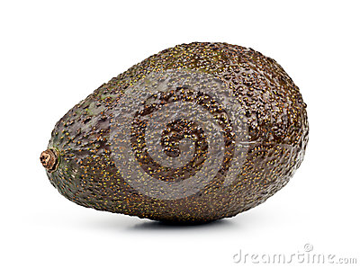 Brown avocado, isolated on white