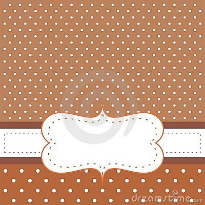 Free Brown Background, Polka Dots - Card Or Invitation Royalty Free Stock Photography - 21346207