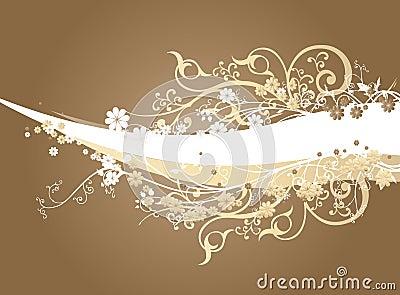 Brown Background with Swirls