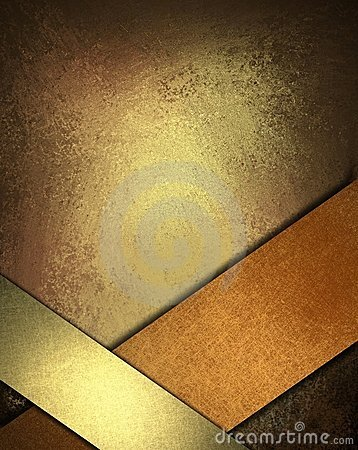 Free Brown Background With Gold And Copper Ribbon Royalty Free Stock Photography - 21310087