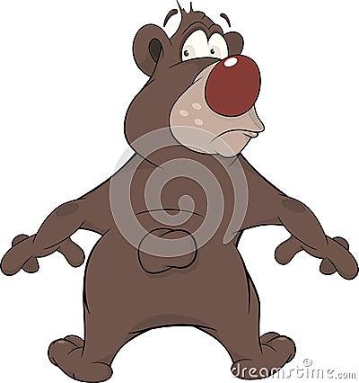 Brown Bear. Cartoon