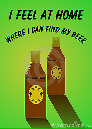 Brown beer advert