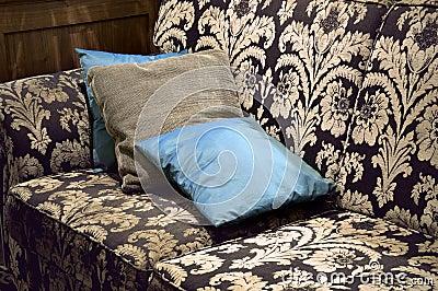 Brown and beige vintage settee