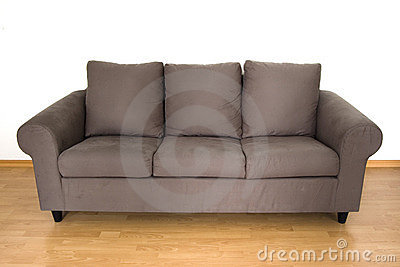 Brown-bequemes Sofa