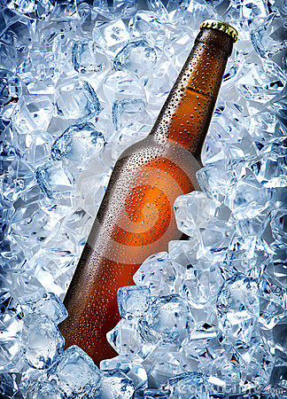 Free Brown Bottle In Ice Royalty Free Stock Images - 71582709