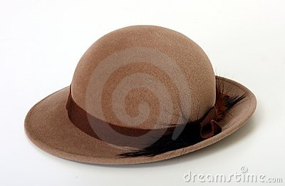 Brown Bowler/Derby hat