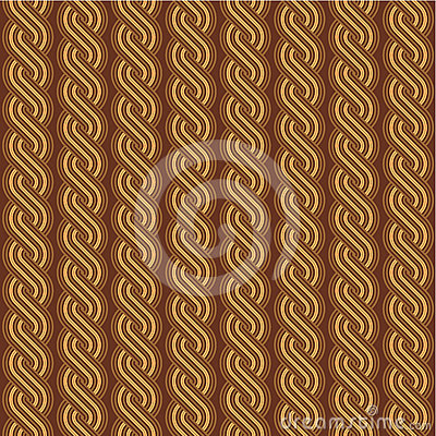 Brown braids background, seamless pattern included