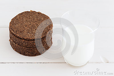 Brown bread and milk