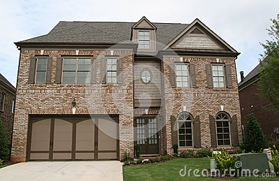 Brown Brick Two Story