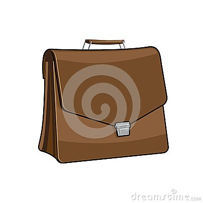 Brown Brief case, vector icon