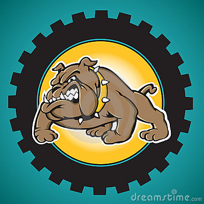 Free Brown Bulldog With Industrial Gear Background Royalty Free Stock Photos - 14401758
