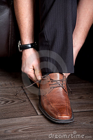 Brown business shoes