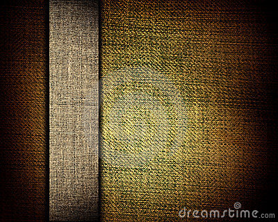 Brown canvas texture and beige strip as background