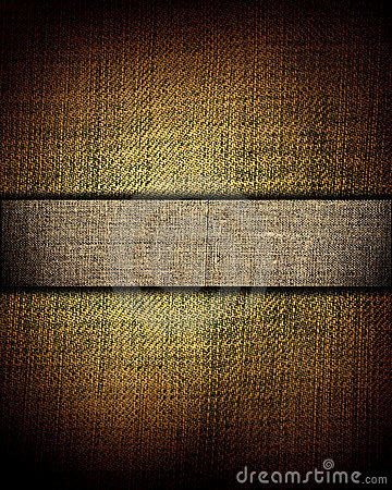 Brown canvas texture with dark stripe, background