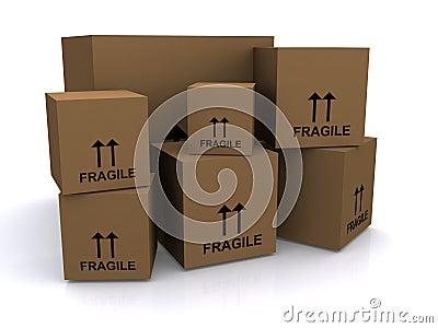 Brown cardboard boxes