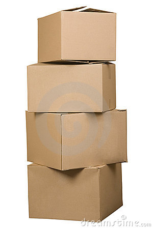 Free Brown Cardboard Boxes Arranged In Stack Royalty Free Stock Photo - 14733905
