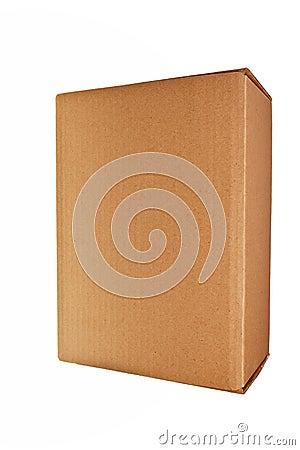 Brown carton box.