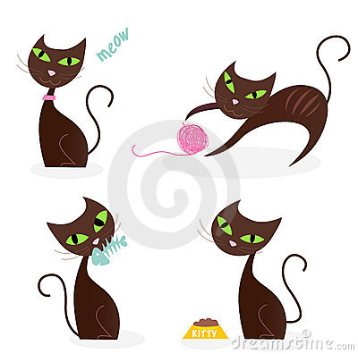 Free Brown Cat Series In Various Poses 1 Royalty Free Stock Photography - 13891427