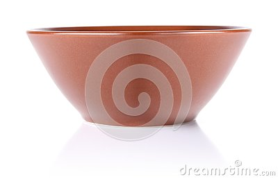Brown ceramic plate