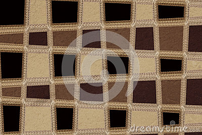 Brown chequered pattern