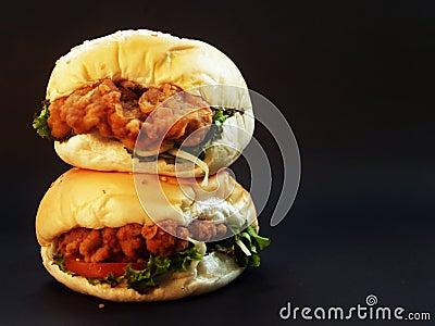 Brown Chicken Meat Sandwich Free Public Domain Cc0 Image