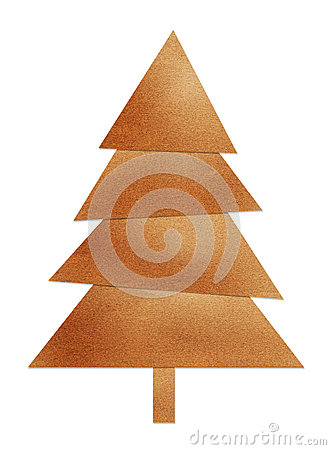Brown christmas tree