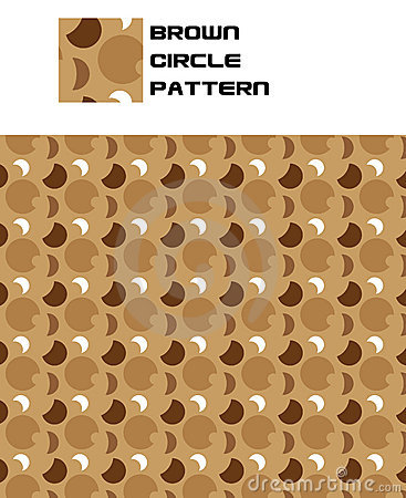 Brown Circle Pattern