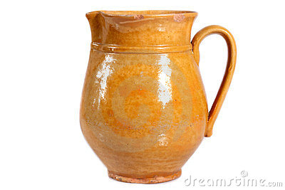 Brown clay jug
