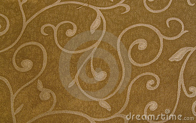 Brown cloth with pattern texture