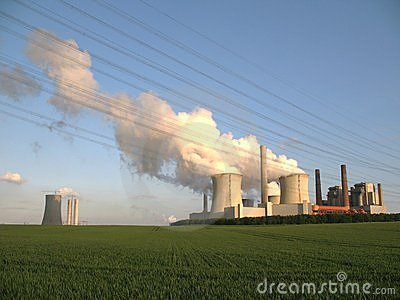 Brown coal fired power station