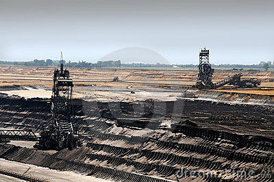 Brown coal open mining