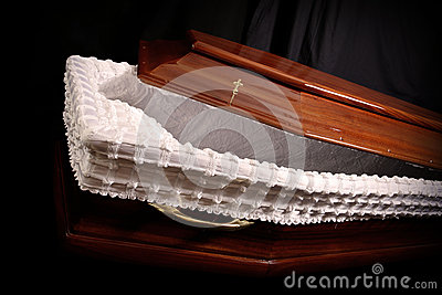 Brown coffin