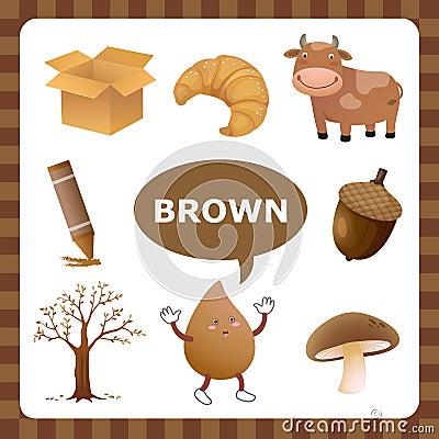 Brown color Vector Illustration