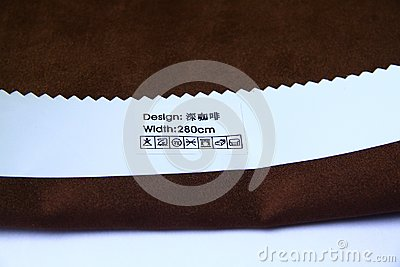 Brown cotton material