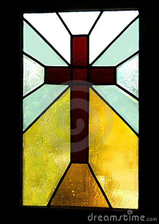 Brown Cross In Stained Glass Stock Photos Image 4567933