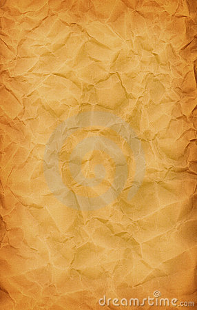Brown Crumpled Up Paper