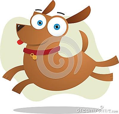 Brown dog jumping