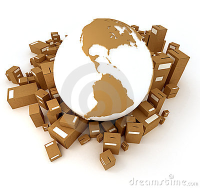 Brown Earth globe packages America