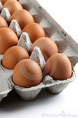 Brown Eggs in an Egg Carton