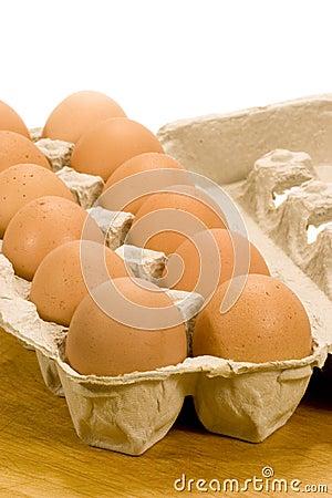 Free Brown Eggs In Carton Royalty Free Stock Photos - 13740438