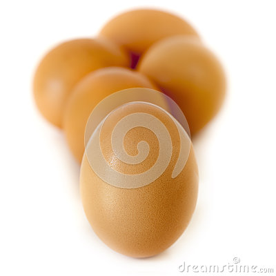Brown Eggs Isolated