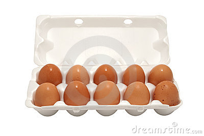 Brown eggs in packing